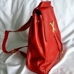 Paloma Picasso Red Leather Bag